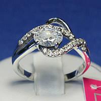 Серебряное кольцо с большим фианитом Восторг 1035, фото 1