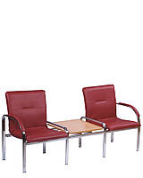 Диван двухмесный со столиком Стафф-2 Т  (STAFF-2 Т) система диванных модулей для зон ожидания