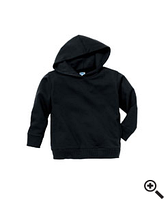 Худи Rabbit Skins Fleece Pullover Hood Black
