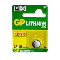 Батарейка дисковая GP CR1216-U5 Lithium CR1216, 3V