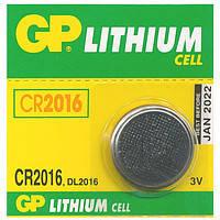 Батарейка дисковая GP CR2016-U5 Lithium CR2016, 3V