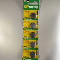 Батарейка дисковая GP CR2025-U5 Lithium CR2025, 3V