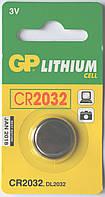 Батарейка дисковая GP CR-2032 LITHIUM (CR2032-U5), 3V
