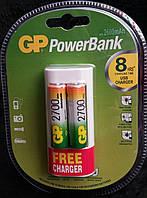 NiMH Аккумуляторы 2 шт. GP PowerBank 2700mAh (R6 AA) + зарядка 220V/USB в подарок