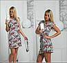 Платье с тканевым поясом и мелким принтом, фото 3