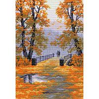 Осень в парке. Матренин Посад. Набор для вышивания нитками на канве с нанесенным рисунком