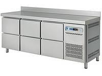 Стол холодильный с выдвижными шкафчиками ASBER ETP-6-200-06