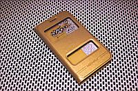 Кожаный чехол книжка Momax для Samsung Galaxy J1 2016 Duos SM-J120 золотистый