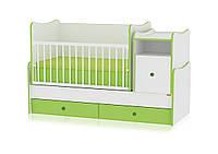 Bertoni Кроватка-трансформер Bertoni Trend Plus бело-зеленый