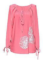 Женская летняя Туника/платье Нарядная Свободная с завязками по горловине и рукавам.