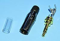Штекер Jack-3,5-HQ стерео металл KS3PC-AU  Amphenol