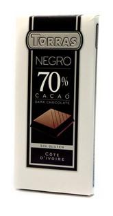 Черный  шоколад Torras 70 % какао , 200 гр