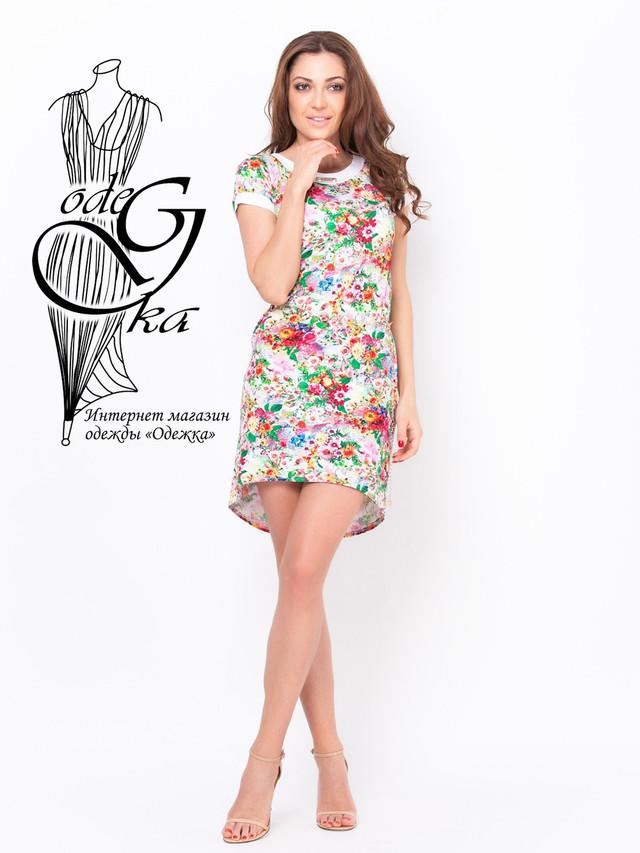 Платье из вискозы в цветочек