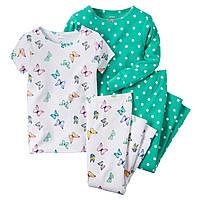 Пижамы детские на девочку 7 лет Набор 2 шт Carter's (США)