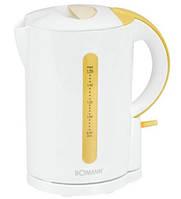 Электрический чайник BOMANN WK 560 CB бело-ваниль 1,7 л Германия Хит продаж
