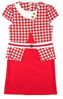 Платье из французского трикотажа для девочки 122,134,140 р.