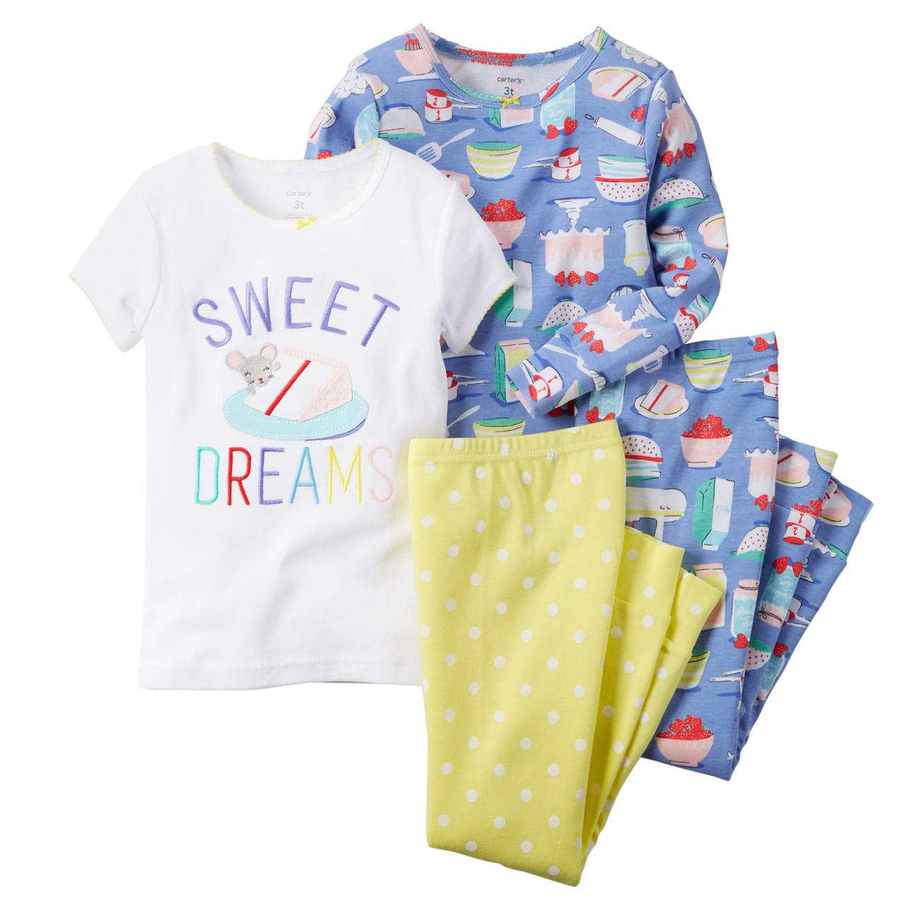 Пижамы детские на девочку 5 лет  Набор 2 шт Carter's (США)
