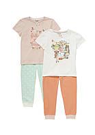 Пижамы детские для девочек 3-4 года Набором и поштучно F&F (Англия)