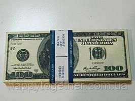 Деньги сувенирные 100 долларов (старого образца)