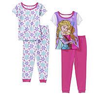 Пижамы детские с коротким рукавом для девочек 3-4-5 лет Набором и поштучно Disney Frozen (США)