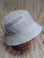Мужская льняная панама белого цвета р-р  59