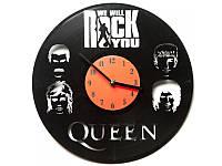 Виниловые часы Queen: We will rock you Квин
