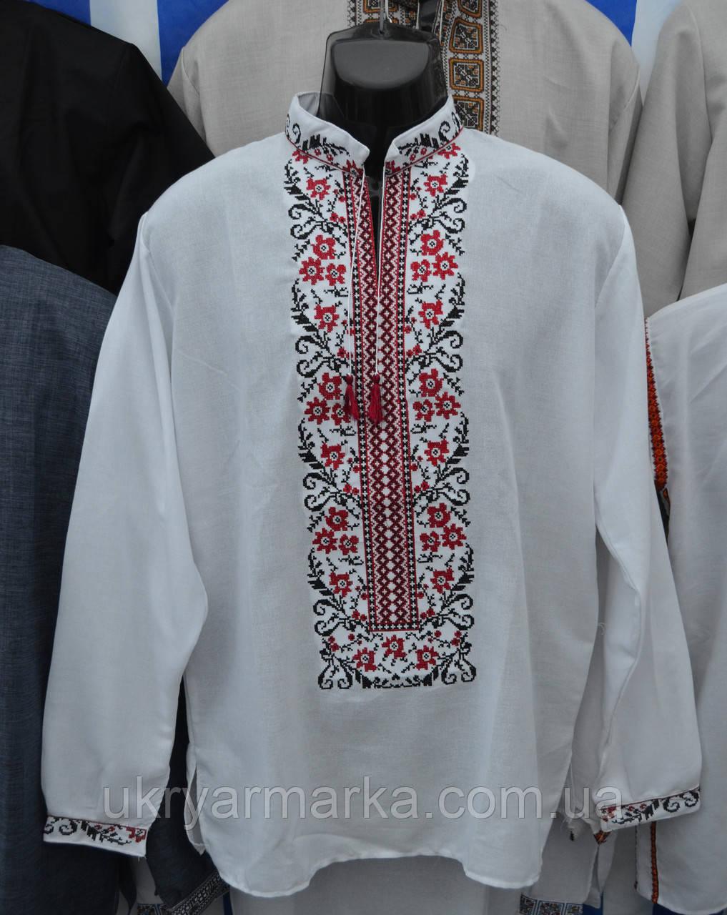"""Чоловіча вишита сорочка """"Небокрай"""" червона, цена 500 грн., купить ..."""