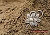 Брошка подвійна квітка з перлинкою