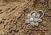 Брошка подвійна квіточка