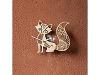 Деревянные часы Лисичка