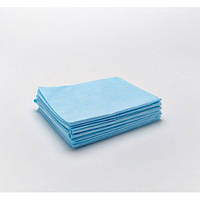 Простынь одноразовая  0.6 x 2 м  10шт 20 пл. Голубой