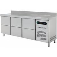 Стол холодильный с выдвижными шкафчиками ASBER ETP-6-250-32