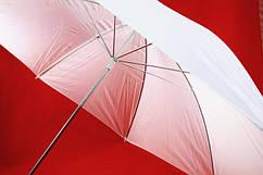Зонт белый / прозрачный 110см