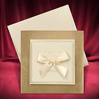 Оригинальные приглашения на свадьбу в золотистой рамочке