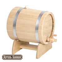Жбан-бочка для вина дубовая, 10 л (нержав.)