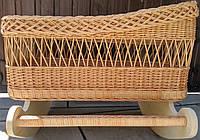 Плетеная детская кроватка