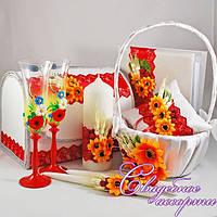 Набор свадебных аксессуаров в украинском стиле