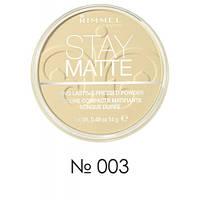 RM Stay Matte - Пудра компактная (003-светлый персиковый), 14 г