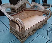 Диван плетений з лози великий, фото 1