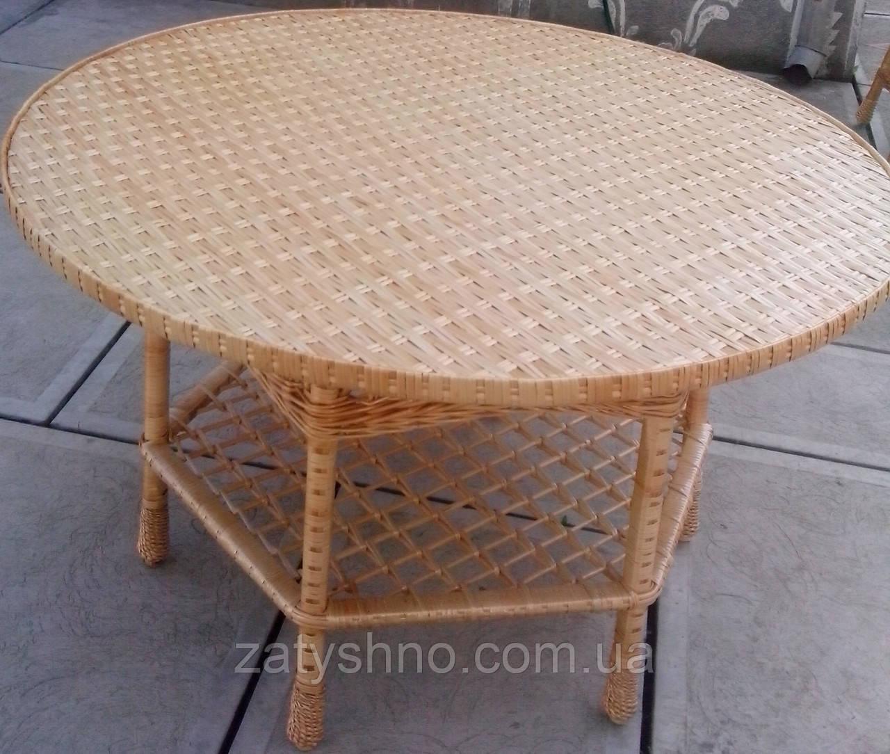 Плетеный стол  в сад большой