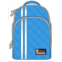 Ранец TIGER голубой h=39см, 31101-С