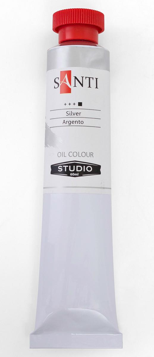 Краска масляная Santi Studio 60мл Серебро №89
