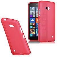 Чехол силиконовый Baseus для Microsoft Lumia 640 (Nokia) красный