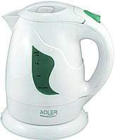 Электрический чайник Adler AD 08 w (1 л) белый