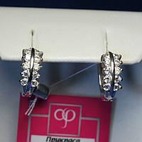 Женские серьги из серебра Полукольца 2037, фото 1