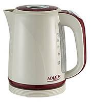 Электрический чайник Adler AD 1222b (бежево-красный) (1.7л)
