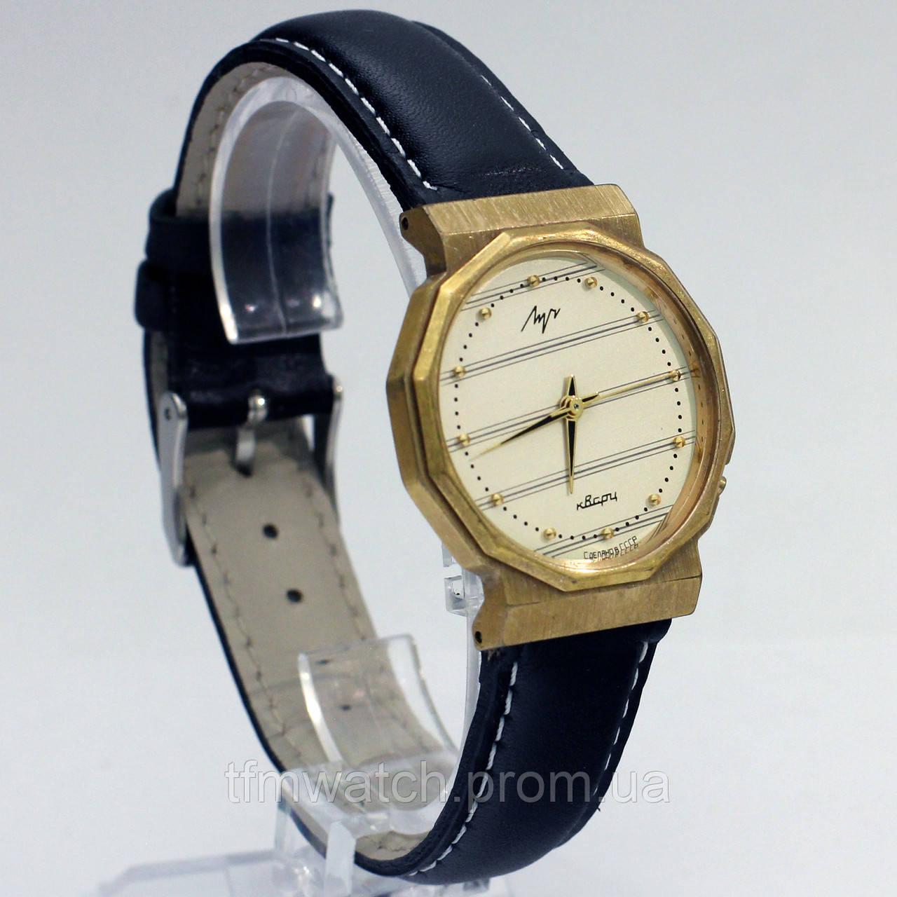 Кварцевые часы Луч позолоченные