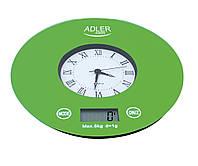 Электронные кухонные весы с часами Adler AD 3144