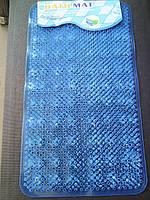 """Коврик силиконовый антискользящий для ванной """"Bath Mat"""", массажный, голубой"""