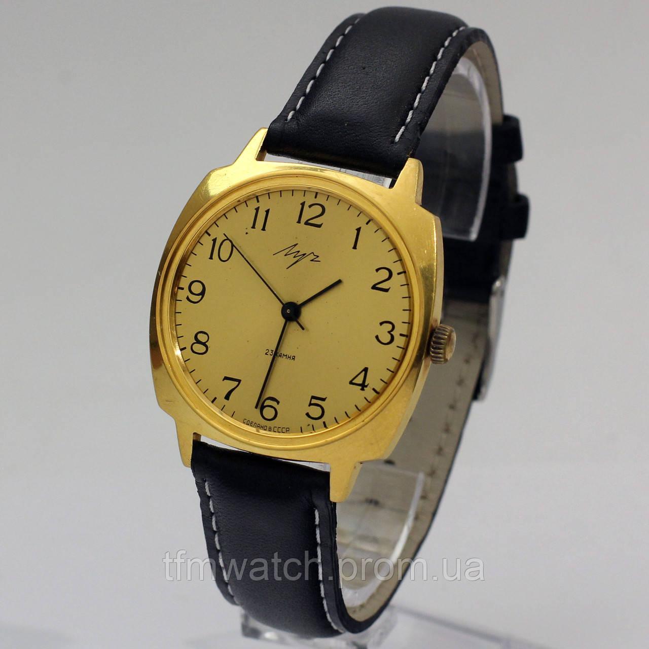 Позолоченные часы Луч мужские
